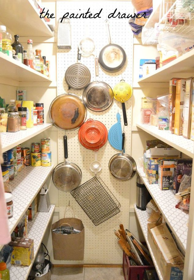 Add a pegboard to a pantry wall