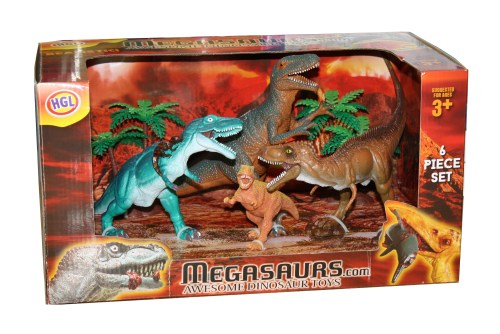 Megasaurs 4 Figure Dinosaur Set