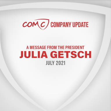 COMC Company Update - A Message from the President Julia Getsch, July 2021