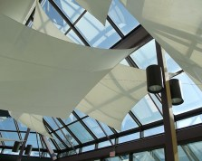 Custom Sail Coverings over Skylights