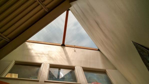 Interior skylight view