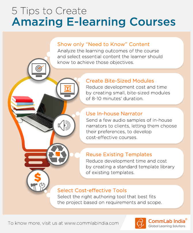 5 Tips To Create Amazing Elearning Courses [infographic]