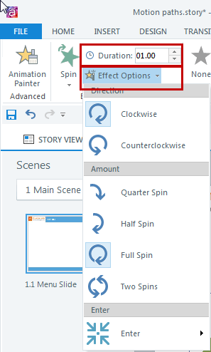 Adjust the speed and effect of animations Step 4