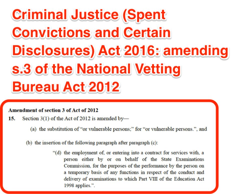 National Vetting Bureau Act 2012 to 2016 -