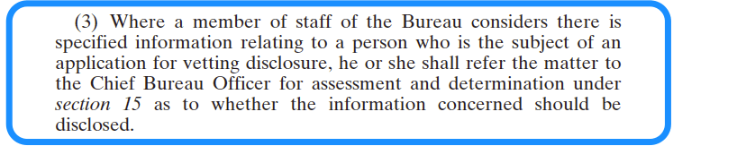 including, where appropriate, any assessment under section 15