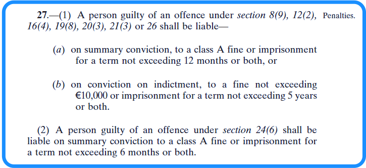 Section 19 vetting legislation specified information and scheduled organisations