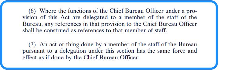 Chief Bureau Officer - vetting legislation - section 22