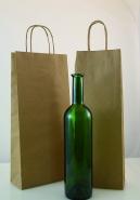 sac bouteille en kraft brun