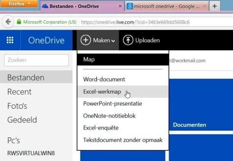 De online Office-onderdelen zijn ook kosteloos binnen een al even kosteloze OneDrive-account te gebruiken.