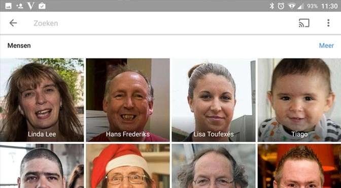 Google Foto's: gezichtsherkenning aanzetten