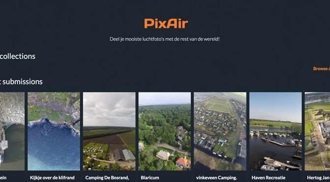 Dronefotografen kunnen nu hun mooiste luchtfoto's delen via PixAir