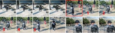 Vijf foto's die snel achterelkaar genomen zijn resulteren bij Google Foto's automatisch in een GIF-animatie. De animatie herken je tussen alle foto's aan het Creatie-symbooltje, de drie sterretjes.