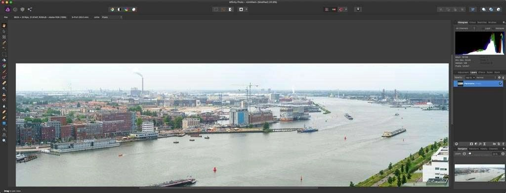 Panorama's maken in Affinity Photo is eenvoudig.