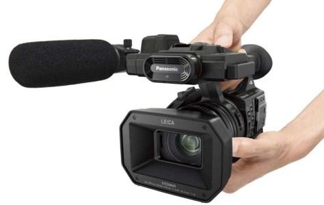 Het duurdere topmodel videocamera voor de (semi)professional (bron: Panasonic).