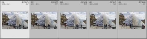 Vijf verschillende foto's met mensen op allerlei plekken.