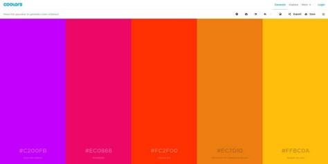 Oneindig veel kleurenpaletten via een druk op de spatiebalk