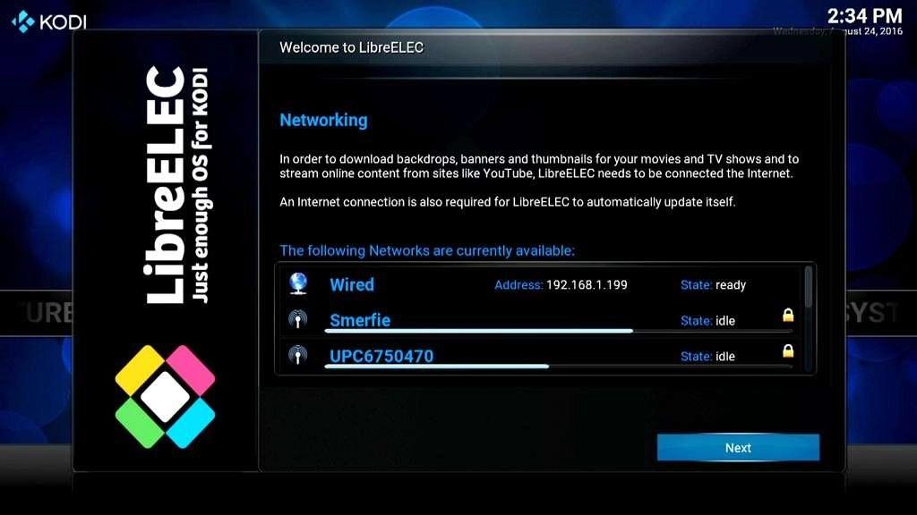 Kies voor een bedraad of draadloos netwerk.