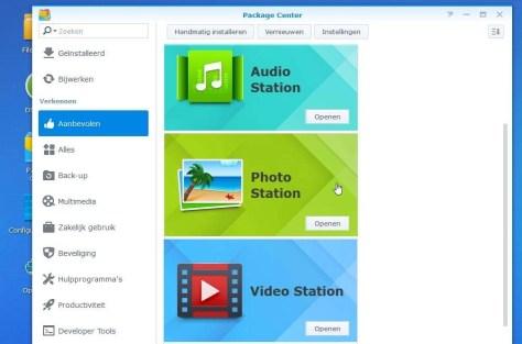 Hier vindt u de app Photo Station, klaar om te installeren.