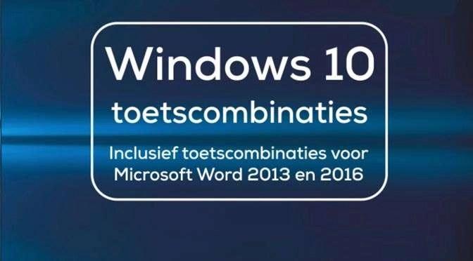 Alle toetscombinaties voor Microsoft Foto's