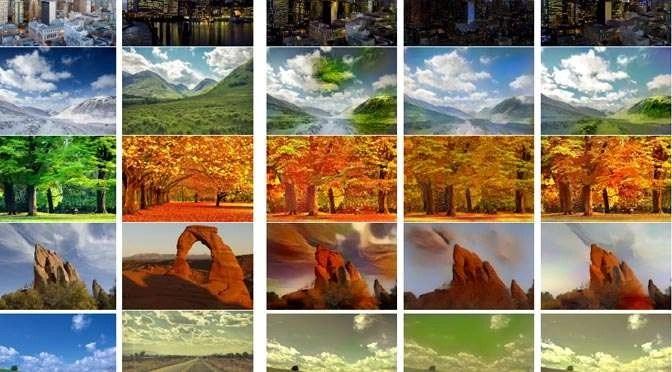 Deep Photo Style Transfer: van groene blaadjes herfstblaadjes maken