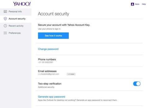 2-staps-verificatie bij Yahoo