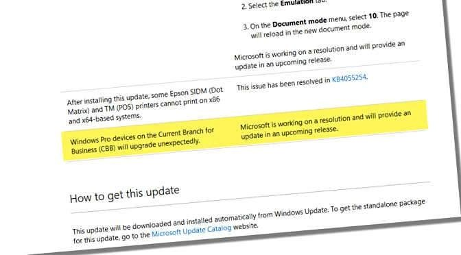 Microsoft bekent 'upgrade bug'