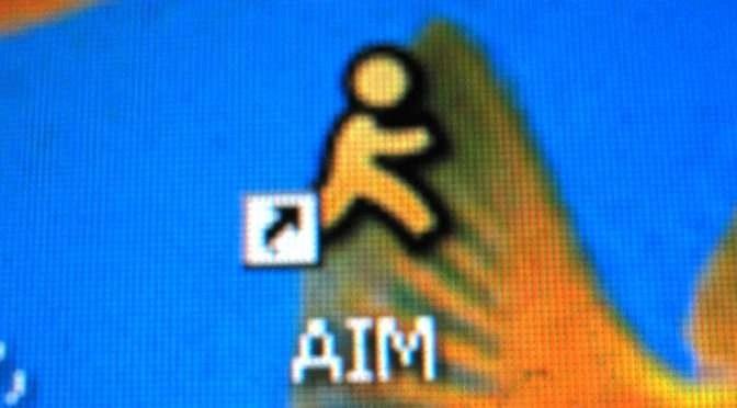 AOL Instant Messenger is niet meer (bron uitgesneden afbeelding: https://www.flickr.com/photos/moyix/174054753