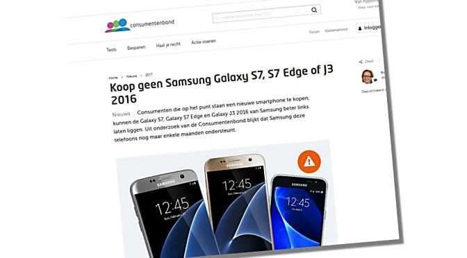 De ondersteuning voor Android laat vaak te wensen over, zo constateert ook de Consumentenbond