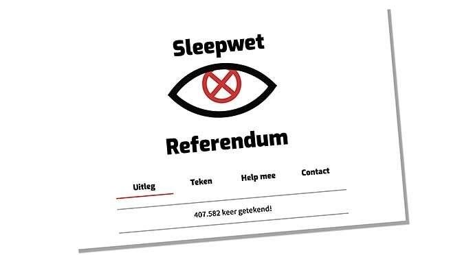 Morgen is het sleepwet-referendum