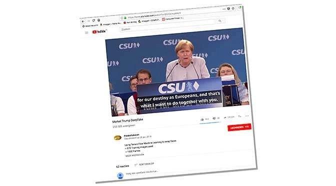 Een heel bekend voorbeeld van Deepfake, als demonstratie bedoeld