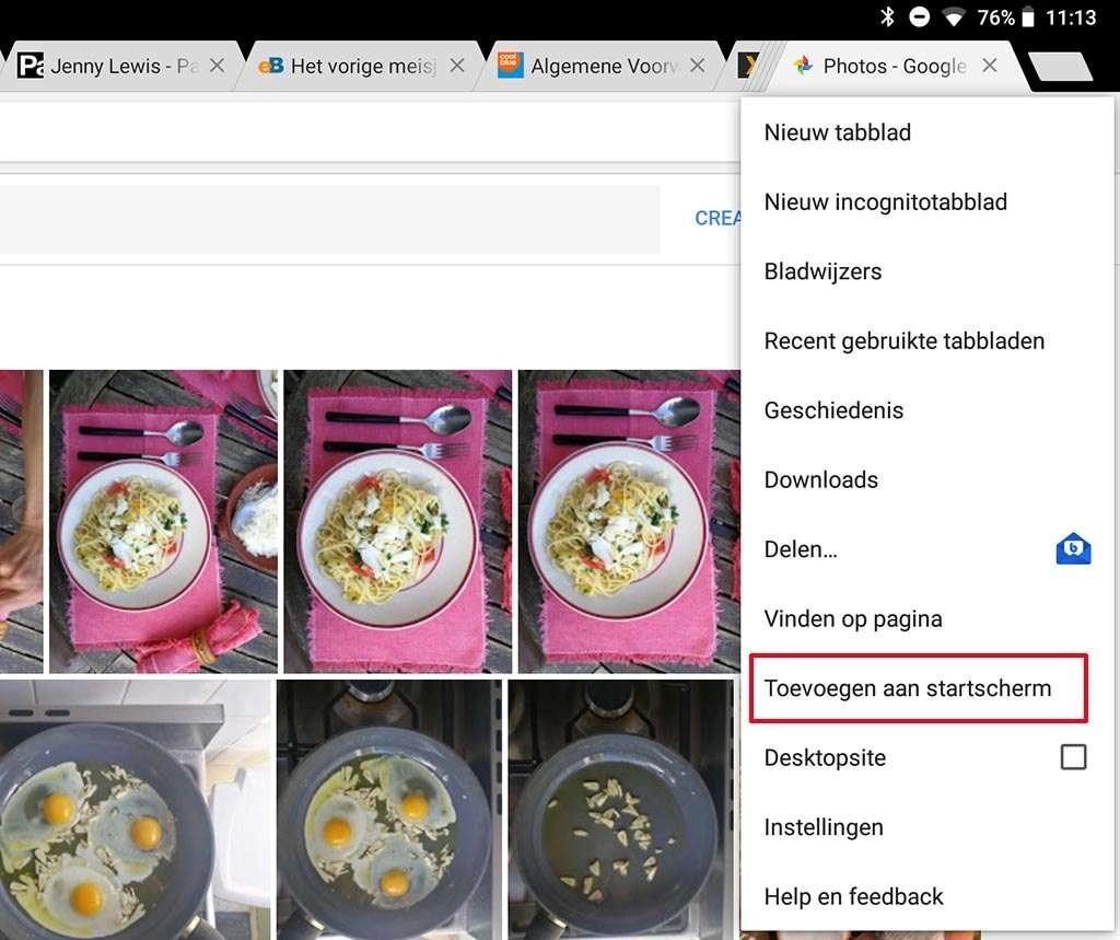 Google Foto's als progressive web app