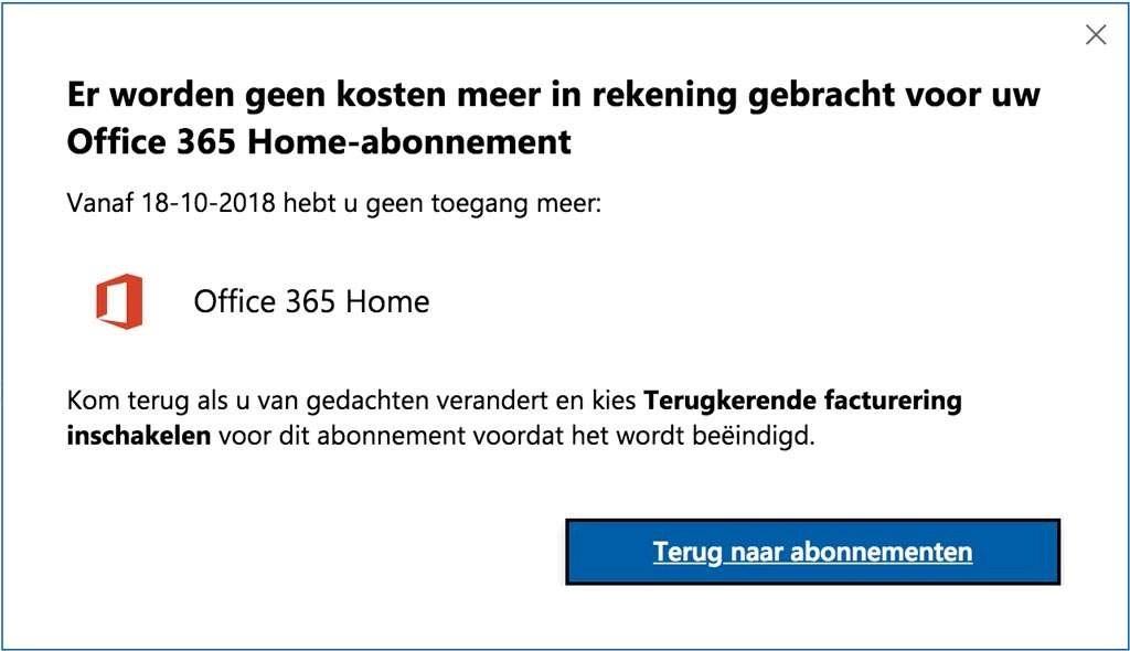 Office 365 Home-abonnement