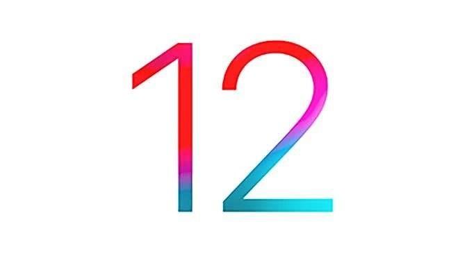 iOS 12 is beschikbaar (bron afbeelding: https://commons.wikimedia.org/wiki/File:IOS_12_logo.svg)