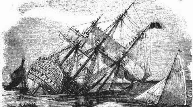 Facebook is een zinkend schip als het gaat om privacy (bron afbeelding: https://commons.m.wikimedia.org/wiki/File:Loss_of_the_Royal_George,_at_Spithead_(1871).jpg)