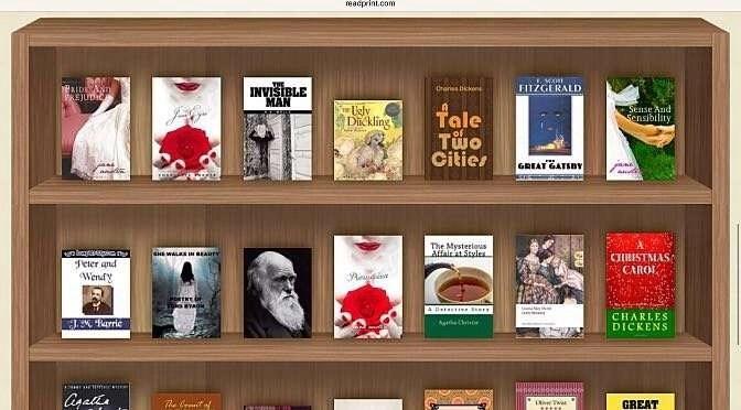 Deze maand is een enorme berg boeken public domain geworden (bron afbeelding: http://www.readprint.com)