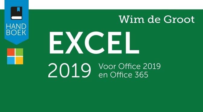 Een nieuwe Excel, een nieuw boek: Handboek Excel 2019