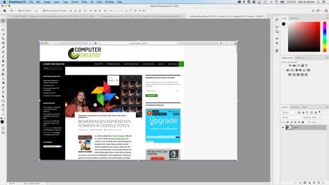 Je screenshot opent zich nu in een nieuw tabblad