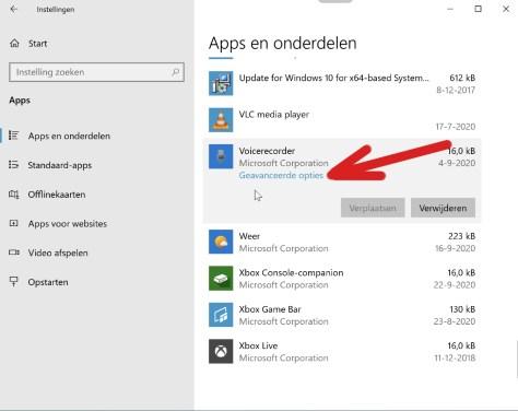Windows 10 apps repareren