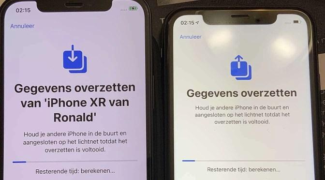 Gegevens overzetten van je oude naar je nieuwe iPhone