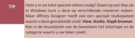 Tekst in Affinity Designer