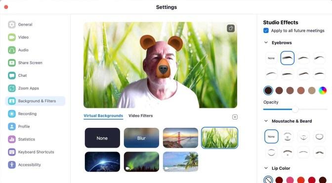 Virtuele achtergronden en filters in Zoom