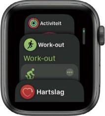 Dock op de Apple Watch