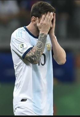 messi during a match