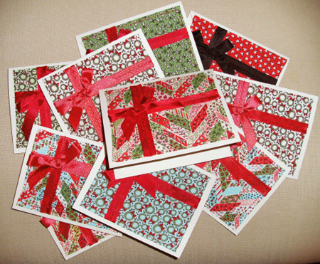 Super Quick And Easy Fabric Christmas Cards Notions