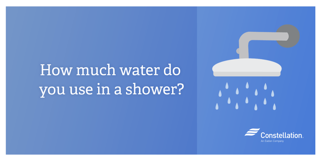 How much water do you use in a shower  Constellation