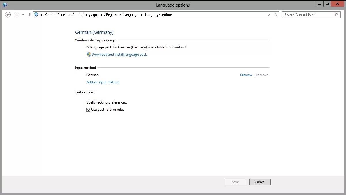 How to change the display language on Windows Server 2012 R2