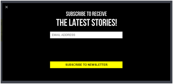 Simple subscription popup