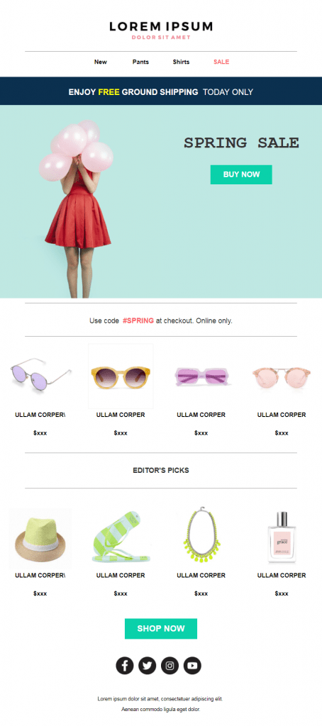 Spring email templates #4: Spring Sale