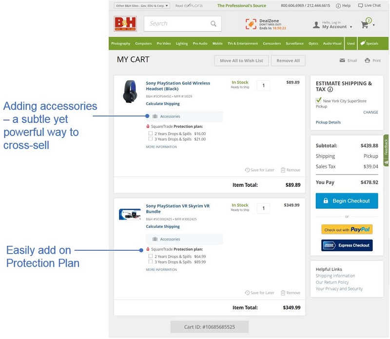 Best Checkout Pages example 7: B&H