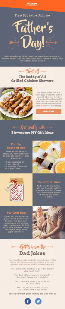 Father's Day Email Subject Lines – Freeosk